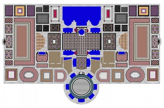 Floor plan for Roman baths