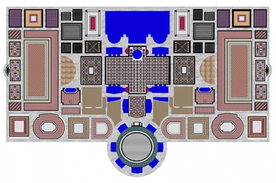 Floor plan for Roman baths